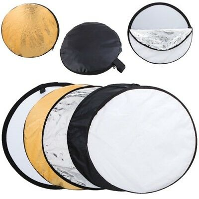 "Handheld 43"" 110cm 5 in 1 Reflector Photography Studio Multi Disc Collapsible US"