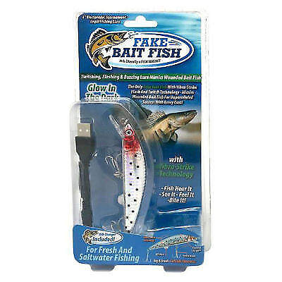 Easy Twitching Fishing Fish Lure Lures Bait Swimbait Usb Rechargeable Buzzing Tv