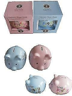 Large Ceramic Piggy Bank Assorted - 1 piece only 20cm x 22cm  - PINK OR BLUE