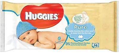 Huggies Pure Baby Wipes Wet Wipe Paraben Alcohol Perfume Free Soft Skin Cleaning