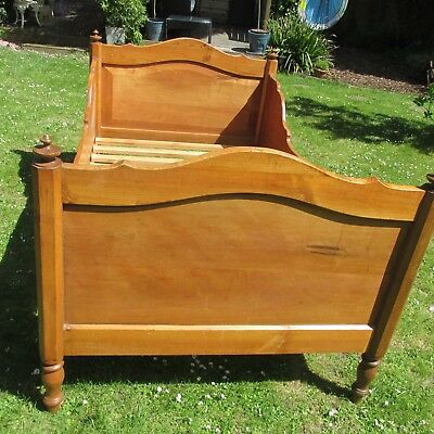 Antique 19th Century Sm/Child French Bed Solid Wood Custom Made New Mattress