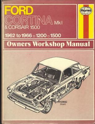 ford cortina mk1 1200 1500 gt super de luxe haynes manual 1962 1966 rh picclick co uk ford cortina mk1 workshop manual ford escort mk1 manual