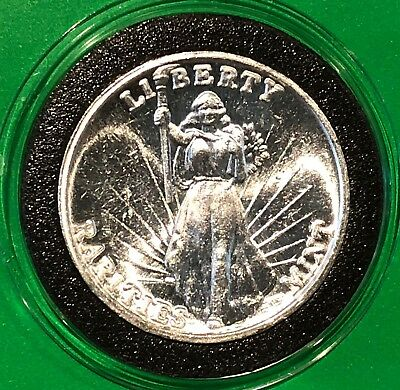 Liberty Rarities Mint Vintage Collectible Coin 1 Troy Oz .999 Fine Silver Round