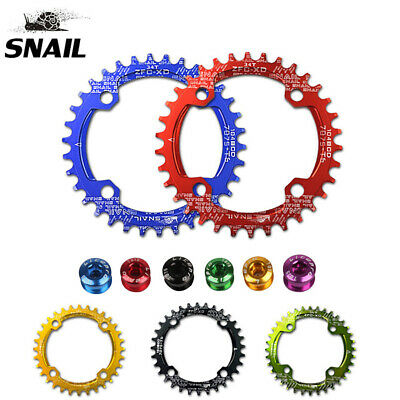 SNAIL 104BCD 32-42T MTB Bike Chainring Narrow Wide Single Oval/Round Chainwheel