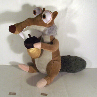 "10"" Scrat With Acorn Soft Toy - Ice Age Movie"