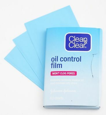 Clean & Clear Oil Control Film Absorb and Blotting Paper 60 Sheets 5x8cm UK