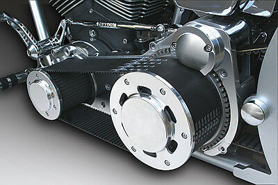 """Ultima 3.35"""" Polished Street Style Belt Drive for Harley Softail Models '90-'06"""