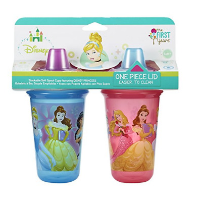 The First Years Disney 2 Piece Baby Soft Spout Sippy Cup, Princess 9 oz 6m+