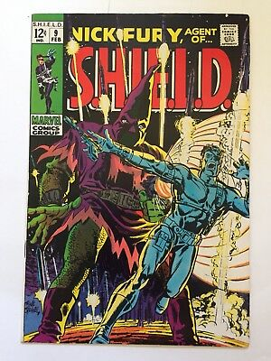 Nick Fury, Agent of SHIELD #9 Marvel 1969 Mid Grade Condition FN- (5.5)