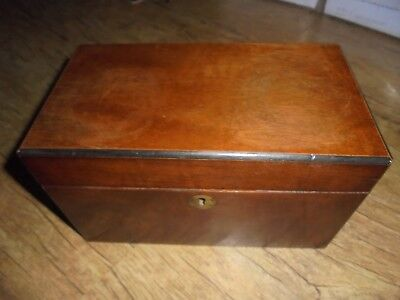 Late Victorian Antique Tea Caddy with Glass Mixing Bowl. No Reserve. See Photos.