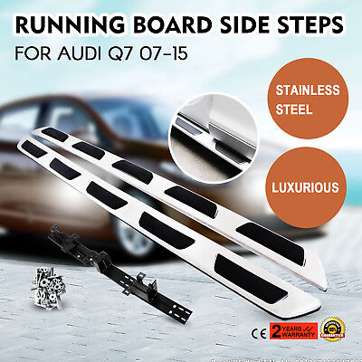 Running Board For Audi Q7 07-15 Stainless Steel Side Steps HQ Nerf Bar Active