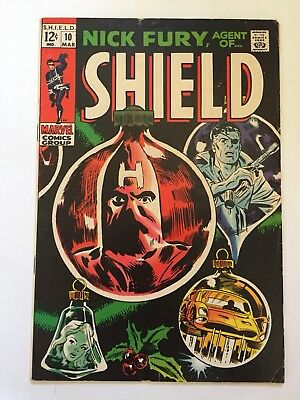 Nick Fury, Agent of SHIELD #10 Marvel 1969 Mid Grade Condition VG/FN (5.0)