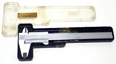 "MAUSER T851-33, G668 STAINLESS STEEL 6"" VERNIER CALIPER w/ CASE, WORKING!"