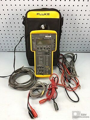 635A Fluke Quickbert-T1 Handheld Cable Tester With Leads, Power, Case And Manual