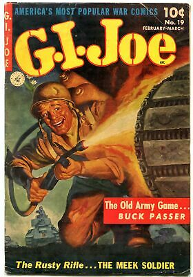 Gi Joe #19 1953-Saunders Flame Thrower Cover-Ziff Davis Fn-