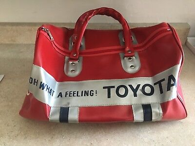 Vintage Toyota Hawaii Servco Duffel Bag 1980's Red White Blue