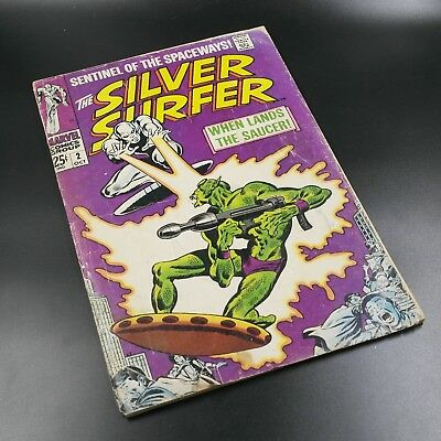 The Silver Surfer #2 (1968, Marvel Comics) 1st appearance of the Badoon - Reader