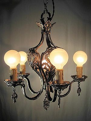 Chandelier Antique Scottish Craftsman Solid Brass Unique Restored Magnificent