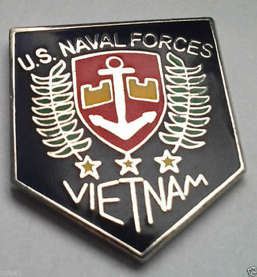 US NAVAL FORCES VIETNAM Military Veteran Navy Hat Pin 14823 HO