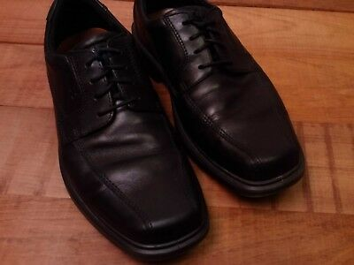 669759583b ECCO PORTUGAL MEN'S Solid Black Leather Casual Oxfords Shoes Size 45 ...
