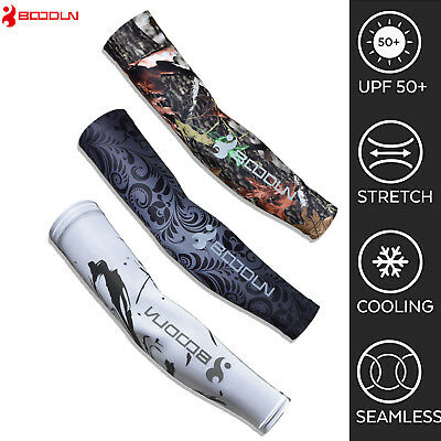 Cooling UV Sun Protection Arm Sleeves Golf Sports Outdoor Cycling Biking Cover
