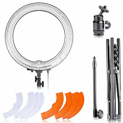 """Neewer Ring Continues Light Dimmable 18"""" Kit w/Stand 5500K Video Photo studio"""