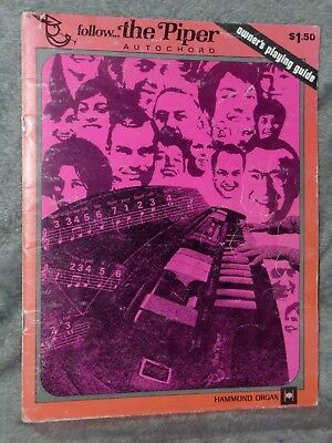 VERY RARE Vtg HAMMOND ORGAN Follow the Piper Autochord Owners Playing Guide Book