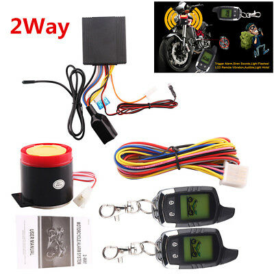 2Way Motorcycle Alarm Immobilizer Anti Theft Security System Remote Engine Start