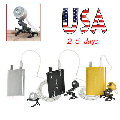 Portable LED Head Light Lamp With Clip for Dental Surgical Loupes FDA Optional A