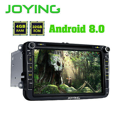 """Android 8.0 Octa Core HD 8"""" Double Din GPS Car CD Radio for VW Skoda Seat Passat"""
