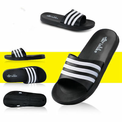 Summer Men's Sports Slide Beach Shoes Sandals Flip Flops Shower Home Slippers UK