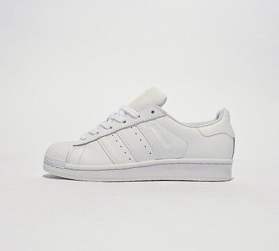huge selection of 7e489 4235d Adidas Originals Junior Superstar Foundation Trainer White UK 3.5 EU 36  LN091 AJ