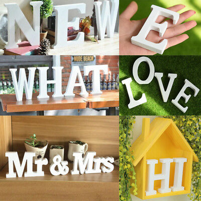 26 English Letters Wood Sticker Home Decor 3D Wall Stickers DIY Art Decorative