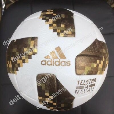 2018 Russia world cup football soccer ball size 5 hot fit GOLD VERSION !