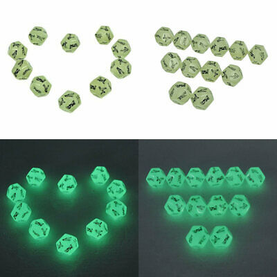 1x 12-Sided Adult Erotic Dice Glow In The Dark Sex Love Bedroom Game Toy Funny
