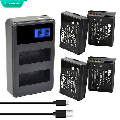 LP-E10 Battery or Charger For Canon Rebel T3 T5 T6 Kiss X50 EOS 1100D 1200D TP