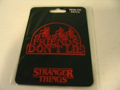 Netflix Stranger Things Friends Don't Lie Kids on Bikes Official Iron On Patch!