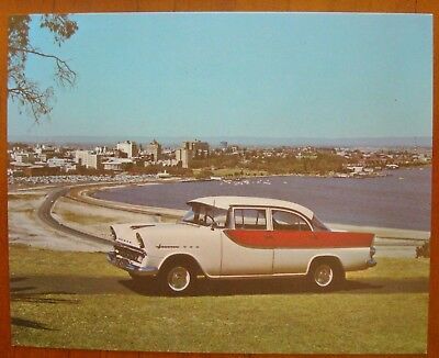 FB HOLDEN  1960  PICTURE  CARD  No 5  RARE  WHITE WINGS,