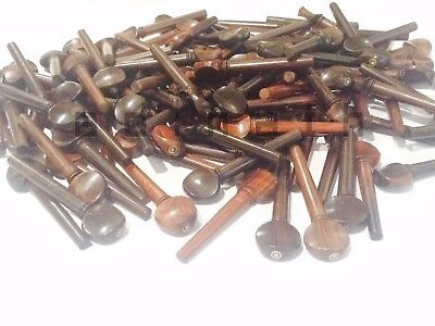 Dark Rosewood Tuning Pegs with Parisian Eye for Violin Viola Oud 100 piece Combo