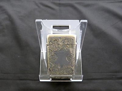 Antique Late Victorian Silver Card Case, Scrolling Foliage, Chester, W.A,1900-01