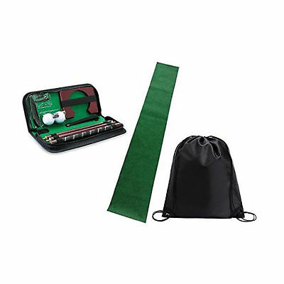 Posma Golf Trainingshilfen Golf Putter Kit Set mit Putting Mat + Tragetasche