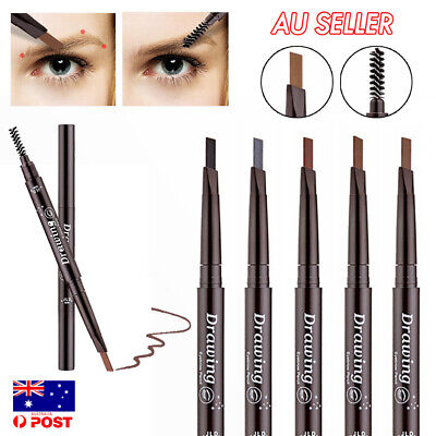 Waterproof Eyebrow Pencil Eye Brow Eyeliner Pen With Brush Makeup Cosmetic Tool