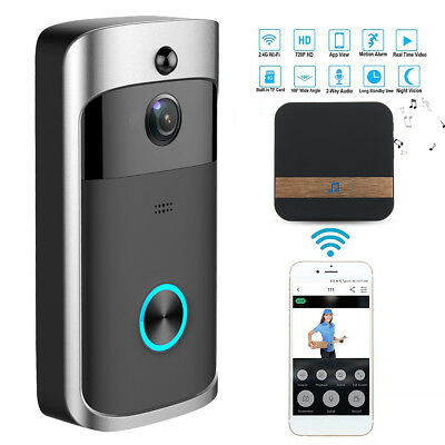 Smart Wireless Doorbell WiFi  Visible Remote Video Camera Home Alarm Waterproof