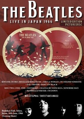 The Beatles 'Live In Japan 1966 New Ltd Edt Vinyl Lp Numbered Picture Disc