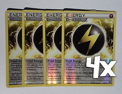 4x Flash Energy Uncommon Ancient Origins Pokemon Near Mint 83//98