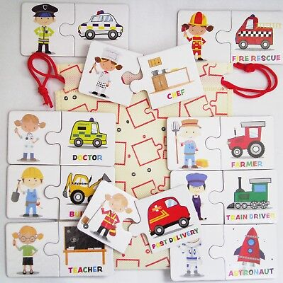 Educational What Can I Do Job Game Kids Teaching Preschool Reading Words Picture