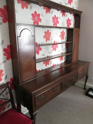 Large Antique George III Style Solid Oak Dresser. Circa 1910 Reproduction.