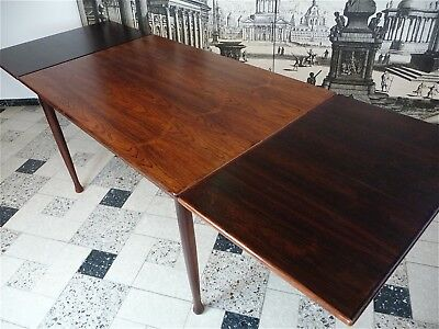 Danish ROSEWOOD Mid-Century EXTENDABLE DINING TABLE Palisander Esstisch | 1960s