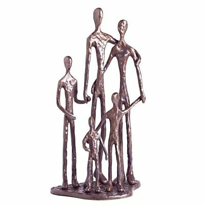 Family of Five Bronze Sculpture Statue Figure - *HOME DECOR *WELL MADE
