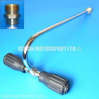 M22 male Pressure Washer Angled Lance Gutter / Drain Cleaning (Dual Nozzles)